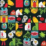Seamless Easter background with monsters. Royalty Free Stock Photography