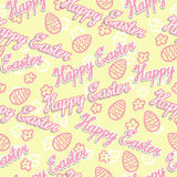 Seamless Easter background. Vector illustration. Royalty Free Stock Photo