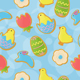 Seamless Easter cookie background Stock Photos