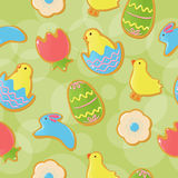 Seamless Easter cookie background Royalty Free Stock Image