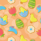 Seamless Easter cookie background Stock Images