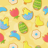 Seamless Easter cookie background Royalty Free Stock Photography