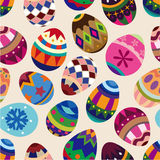 Seamless Easter egg pattern. Vector drawing Stock Photo