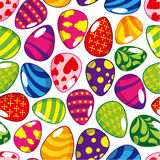 Seamless Easter egg pattern. Vector drawing Stock Images