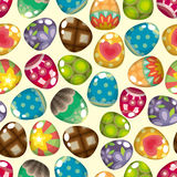 Seamless Easter egg pattern Royalty Free Stock Photos