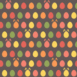 Seamless easter egg spring colorful bunny pattern Royalty Free Stock Image
