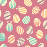 Seamless easter egg spring violet colorful pattern Stock Photography