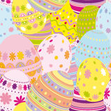 Seamless easter eggs background. An illustration for your design project Royalty Free Stock Photo