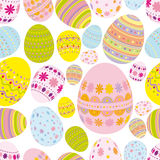 Seamless easter eggs background. An illustration for your design project Royalty Free Stock Image