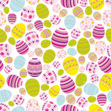 Seamless easter eggs background stock photography