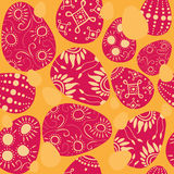Seamless easter eggs. Seamless easter background with colorful decorated eggs Stock Images