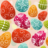 Seamless easter eggs. Seamless easter background with colorfully decorated eggs Royalty Free Stock Images