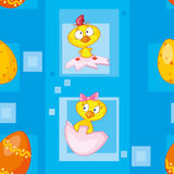 Seamless easter eggs blue Royalty Free Stock Images