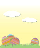 Seamless Easter Eggs In Grass Stock Photo