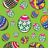 Seamless easter eggs pattern Stock Photos