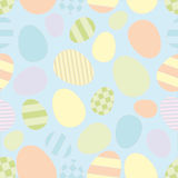 Seamless with easter eggs Stock Photo