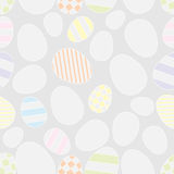 Seamless with easter eggs Stock Photography
