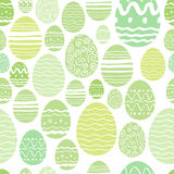 Seamless easter eggs pattern in green color. Stock Image