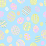 Seamless Easter eggs pattern Royalty Free Stock Photo