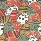 Seamless easter eggs pattern. Royalty Free Stock Photos
