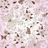 Seamless easter floral pattern Royalty Free Stock Photos