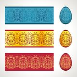 Seamless easter frieze. Decoration for Easter eggs, seamless frieze pattern Royalty Free Stock Image