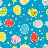 Seamless Easter pattern royalty free illustration