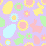 Seamless easter pattern Stock Image