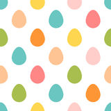 Seamless Easter pattern. Colorful season texture with cute rabbits Stock Photography