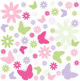 Seamless Easter Pattern Stock Photography
