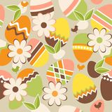 Seamless easter pattern with eggs Royalty Free Stock Photo