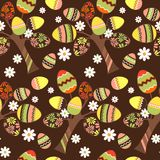 Seamless easter pattern with eggs Royalty Free Stock Images