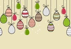 Seamless  easter pattern with eggs Stock Photo