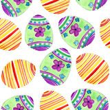 Watercolor pattern with eggs Royalty Free Stock Photos