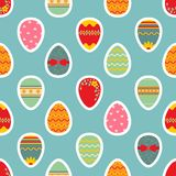 Seamless easter pattern with eggs. Royalty Free Stock Image