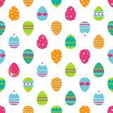 Seamless easter pattern with eggs. Stock Photo