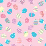 Seamless easter pattern with eggs. Royalty Free Stock Photography