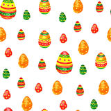 Seamless easter pattern with eggs on white background. Royalty Free Stock Images