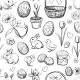 Seamless Easter pattern elements Royalty Free Stock Photography