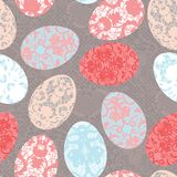 Seamless easter pattern with lacy eggs Royalty Free Stock Photos