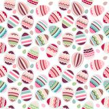 Seamless easter pattern made eggs Royalty Free Stock Image