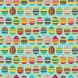 Seamless easter pattern with painted eggs. Royalty Free Stock Photography