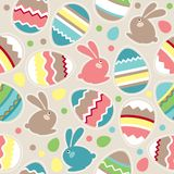 Seamless easter pattern with rabbits Stock Image