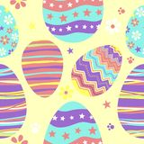 Seamless easter pattern. Vector art illustration, background or print Royalty Free Stock Photo