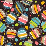 Seamless Easter Pattern With Eggs Stock Image