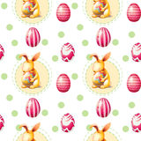 A seamless Easter Sunday template Royalty Free Stock Photo
