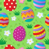 Seamless Easter theme background. Vector illustration Stock Photography