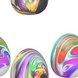 Seamless Easter themed pattern Royalty Free Stock Photo