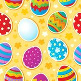 Seamless Easter topic background. Vector illustration Royalty Free Stock Photo