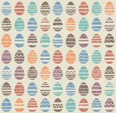 Seamless easter vintage pattern with eggs Royalty Free Stock Photography